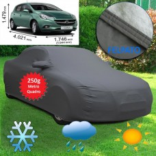Telo copriauto felpato specifico per Opel Corsa 250 grammi a metro quadrato