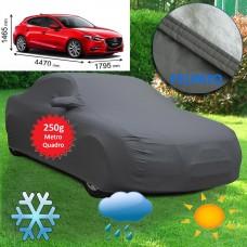 Telo copriauto felpato specifico per Mazda 3 del 2017 250 grammi a metro quadrato