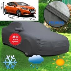 Telo copriauto felpato specifico per Nissan Micra 2017 250 grammi a metro quadrato
