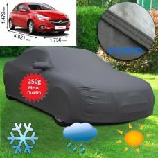 Telo copriauto felpato specifico per Opel Corsa 3p del 2015 250 grammi a metro quadrato
