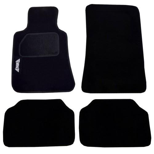 Tappetini auto in moquette con strappo compatibili per Mini