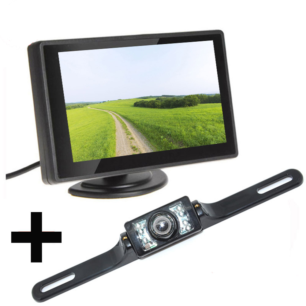 Kit monitor lcd hd e retrocamera parcheggio zmy 530hd for Camera targa