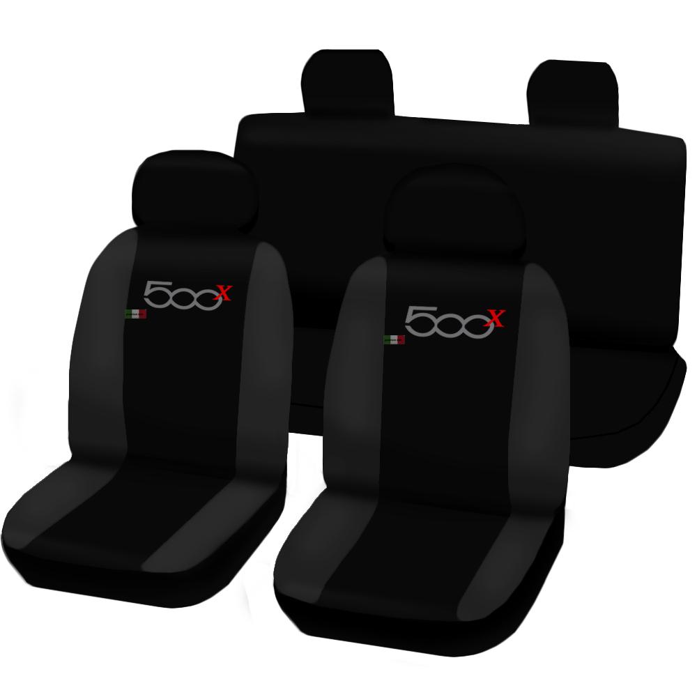 fiat 500 x zweifarbige sitzbez ge schonbezug mit logo. Black Bedroom Furniture Sets. Home Design Ideas
