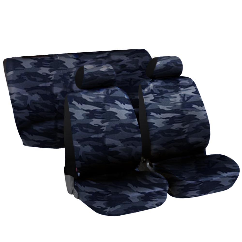 Housses de siege pour voiture urbane camouflage bleu ebay for Housse pour voiture